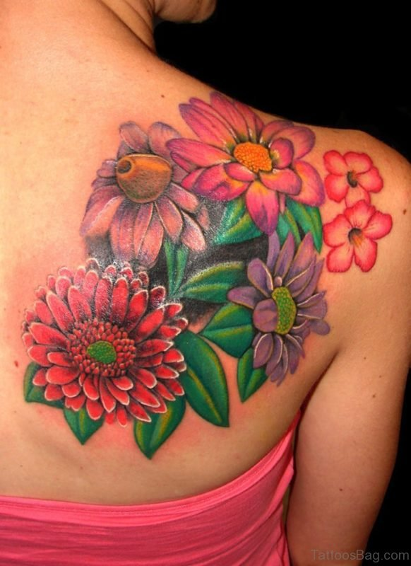 Floral Flowers Tattoo
