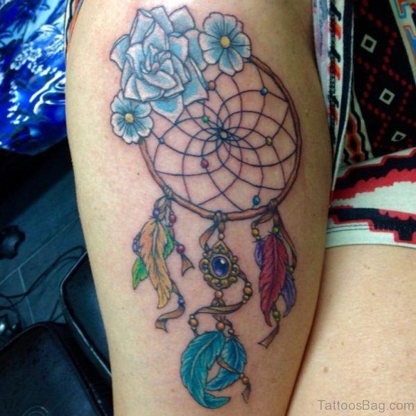 Flower And Dreamcatcher Tattoo