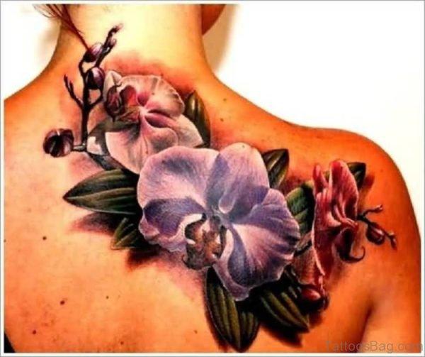 Flower And Leaf Tattoo