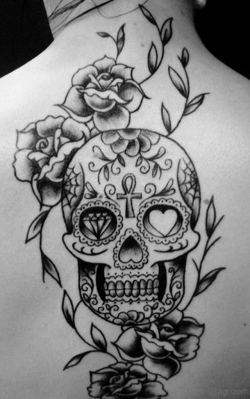 Flower And Skull Tattoo