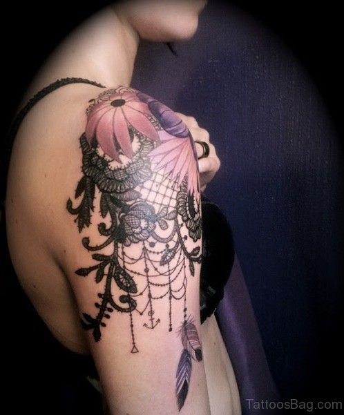 Flower Dream Catcher Tattoo