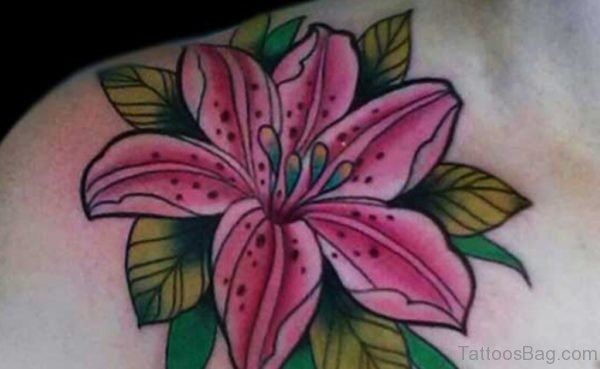 Flower Tattoo Design On Back Body