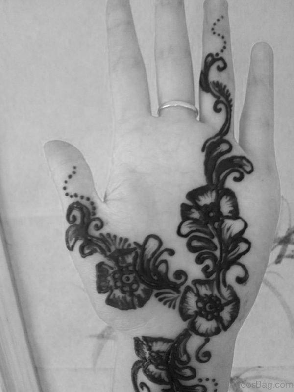 Flower Tattoo Design On Finger