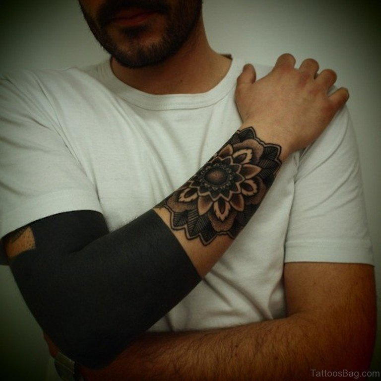 Black Flower Tattoos Wrist: 82 Cool Wrist Tattoos For Men