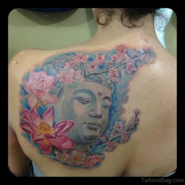 Flowers And Buddhist Tattoo