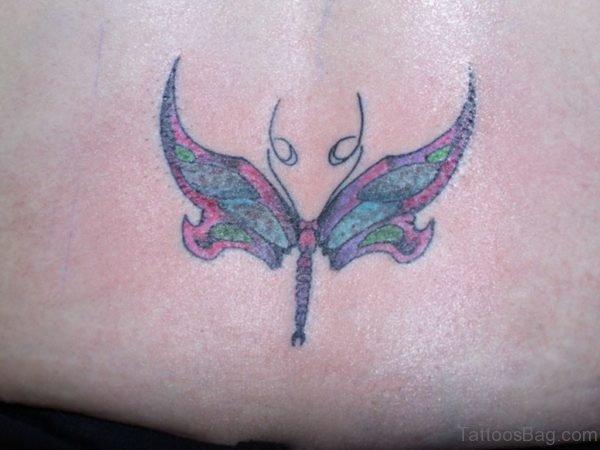 Flying Dragonfly Tattoo Design