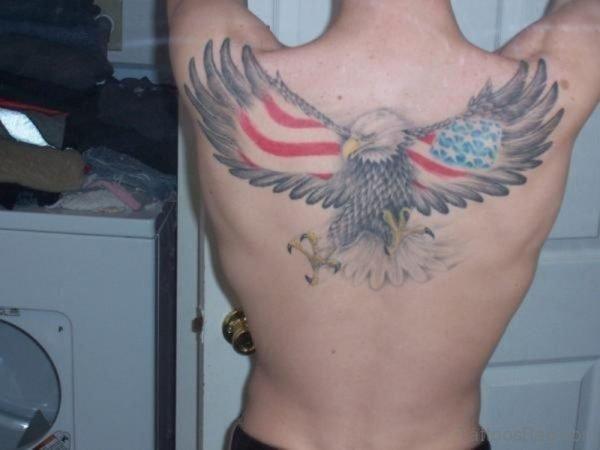 Flying Eagle Patriotic Tattoo