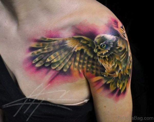 Flying Eagle Shoulder Tattoo