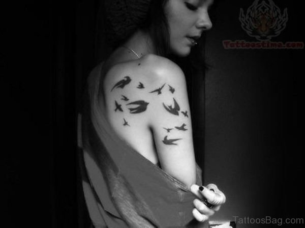 Flying Swallows Tattoo