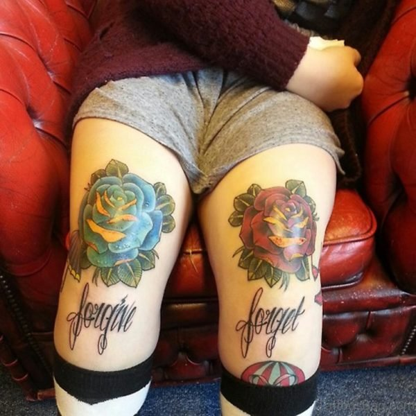 Forgive Forget Rose Tattoo
