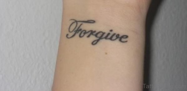Forgive Lettering Tattoo