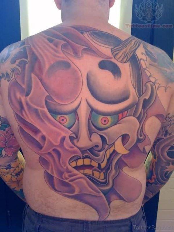 Full Back Mask Tattoo