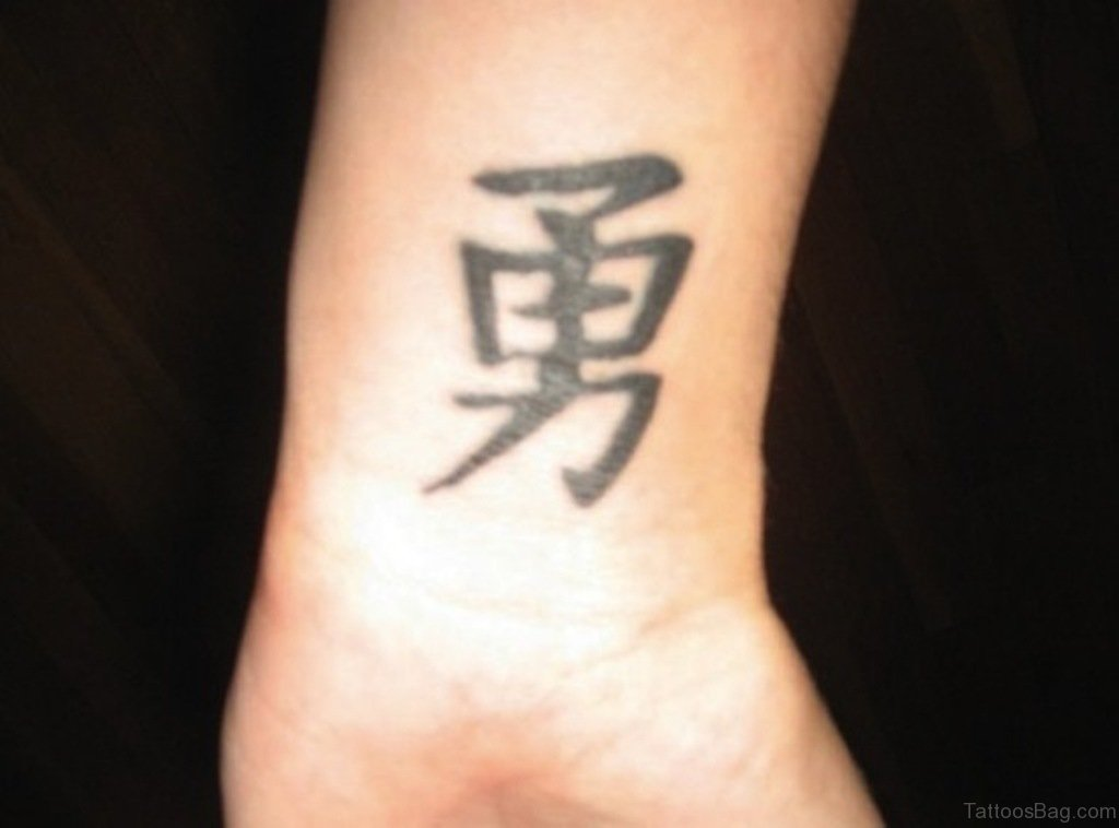 40 amazing chinese symbols tattoos on wrist. Black Bedroom Furniture Sets. Home Design Ideas