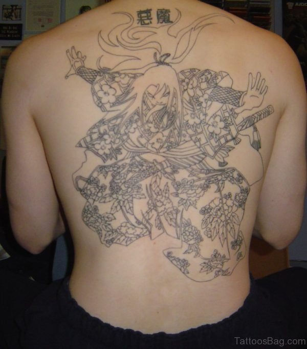 Funky Full Back Tattoo
