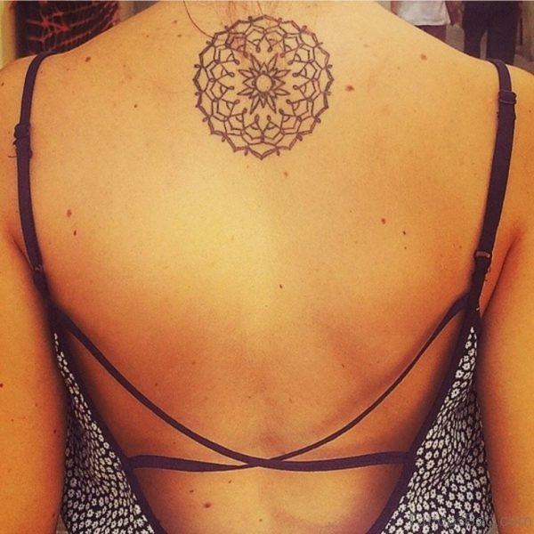 Funky Geometric Tattoo On Back