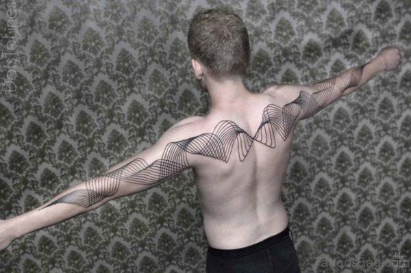 Geometric Arrow Tattoo On Back
