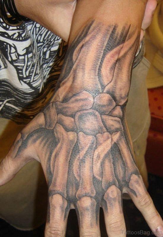 Funky Hand Tattoo