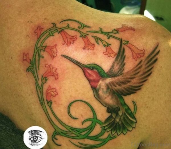 Funky Hummingbird Tattoo