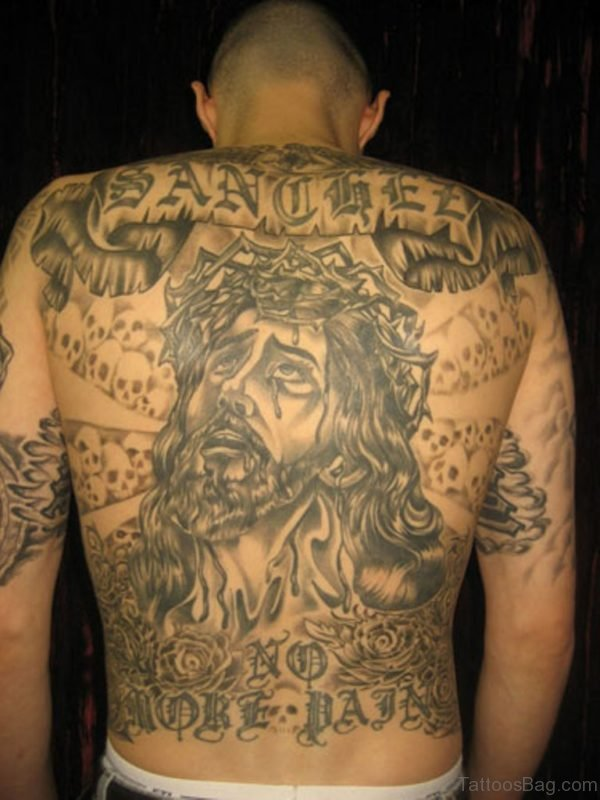 Funky Jesus Tattoo