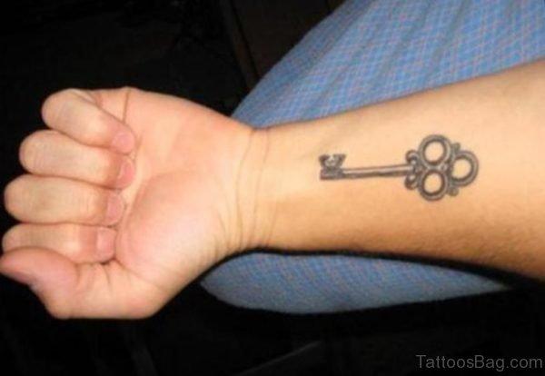 Funky Key Tattoo