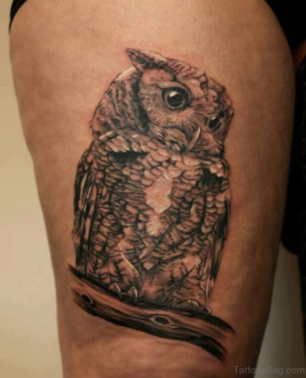 Funky Owl Tattoo