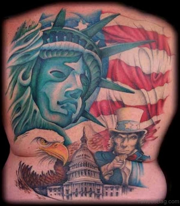 Funky Patriotic Tattoo