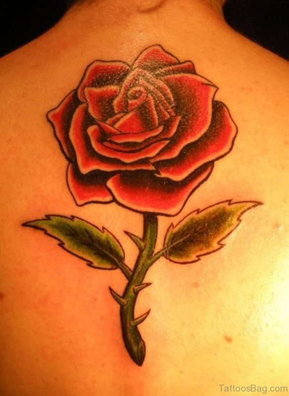 Funky Rose Flower Tattoo