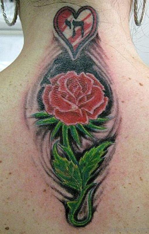 Funky Rose Tattoo