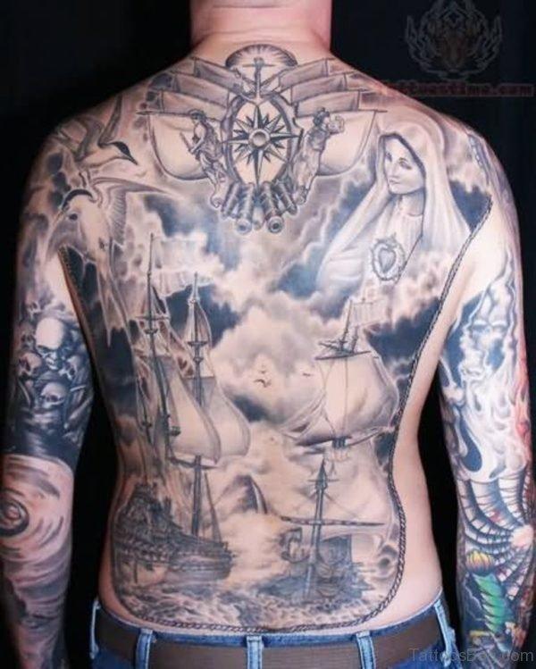 Funky Ship Tattoo