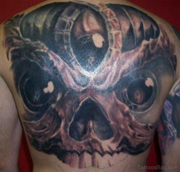 Funky Skull Tattoo
