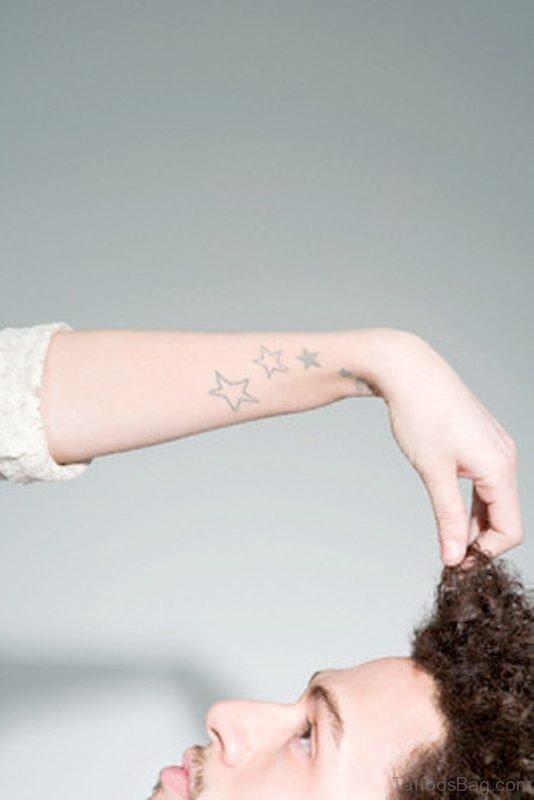 Funky Star Tattoo