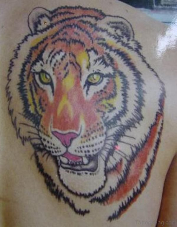 Funky Tiger Face Tattoo