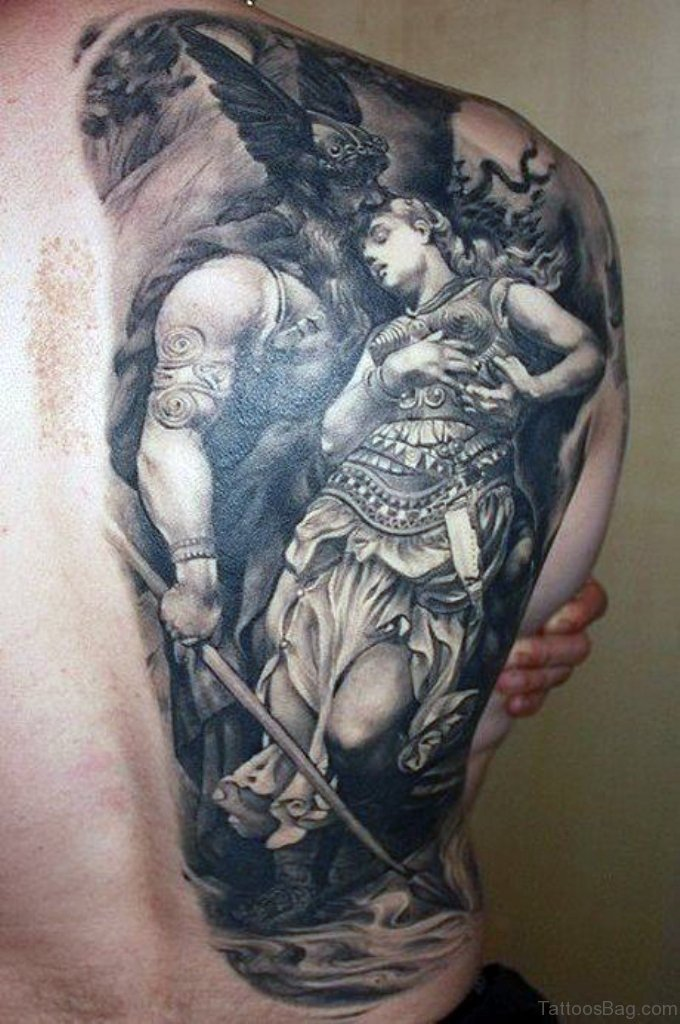 59 alluring viking tattoos for back. Black Bedroom Furniture Sets. Home Design Ideas