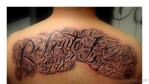 Funky Wording Tattoo