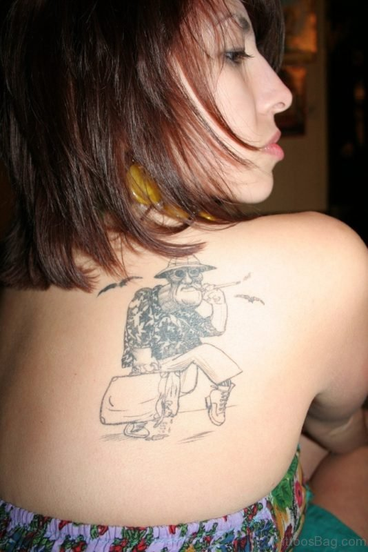 Funny Back Tattoo