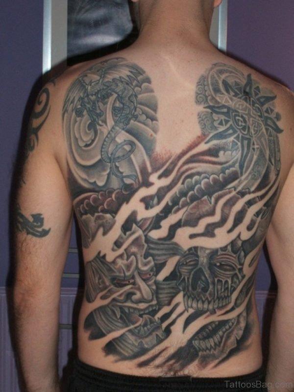 Funny Full Back Tattoo