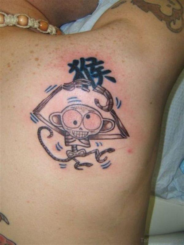 Funny Monkey Tattoo On Shoulder