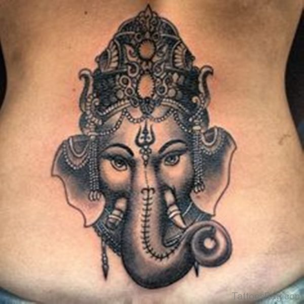 Ganesha Tattoo On Lower Back