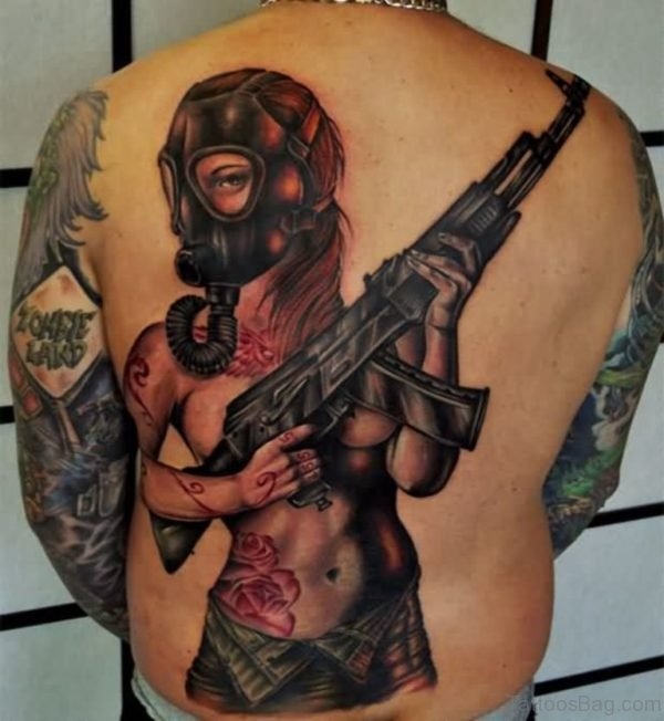 Gas Mask Girl Tattoo