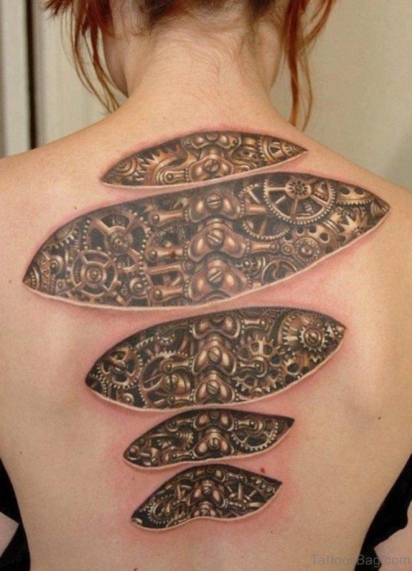 Gear Tattoo Design