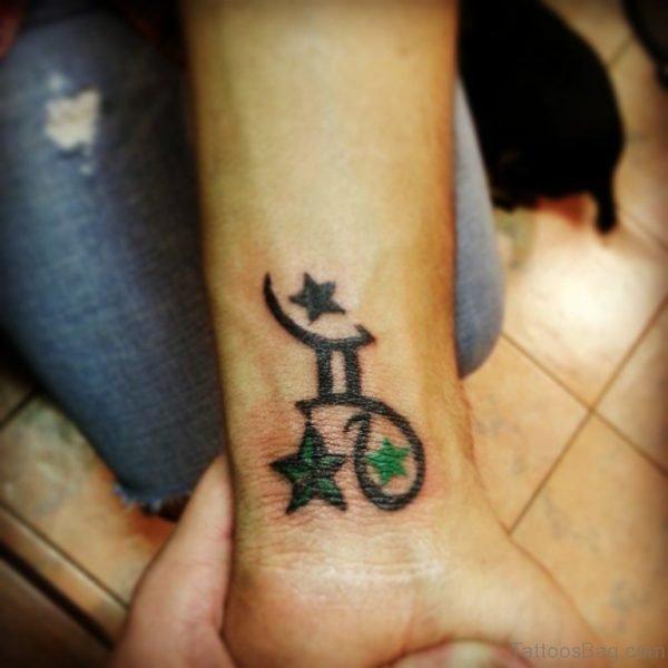 Gemini Symbol And Star Tattoo
