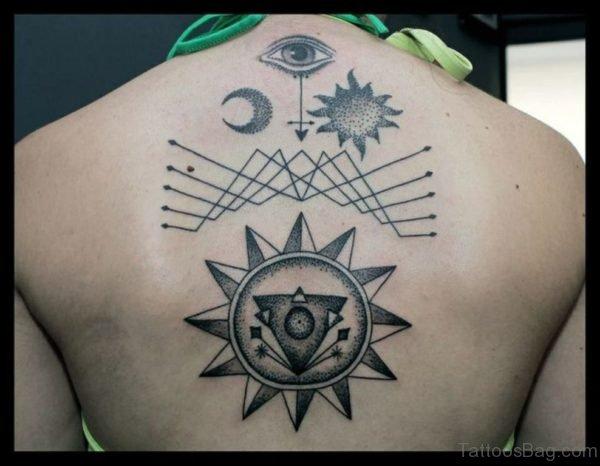Geometric Tattoo Design On Back