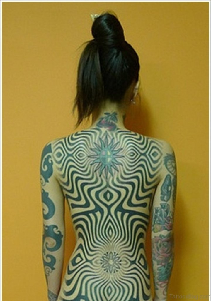75 Excellent Geometric Tattoos On Back | 720 x 1024 jpeg 89kB
