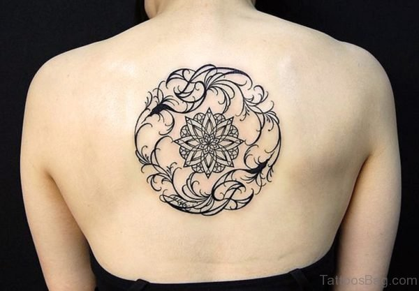 Geometric Tattoo On Back Image