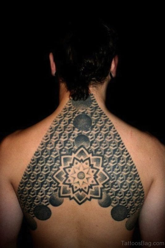 Geometric Tattoo On Back Picture