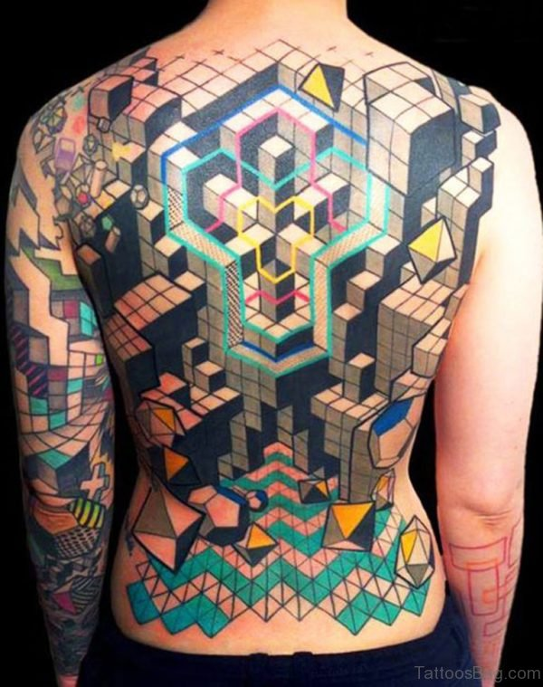 Geometric Tattoo On Full Back