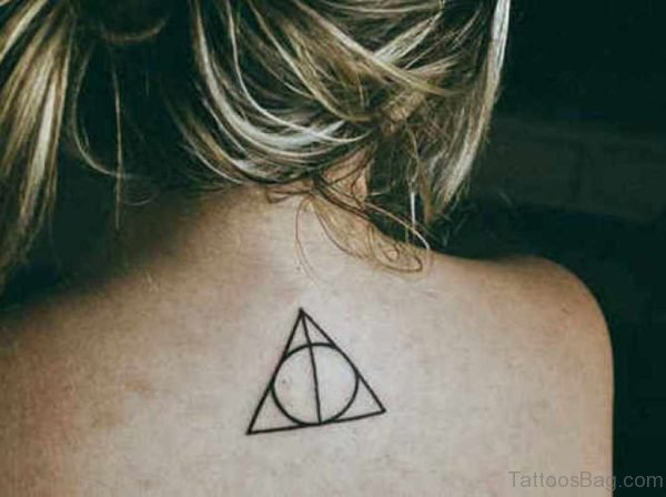 Geometric Triangle Tattoo On Back