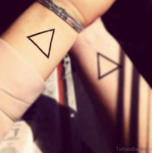 Geometric Triangle Wrist Tattoo