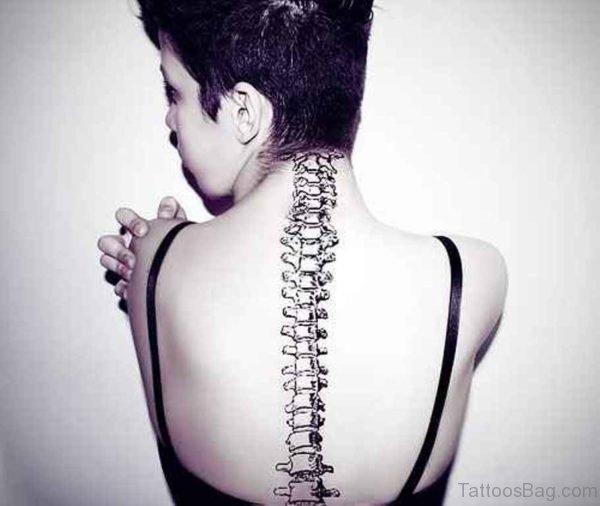 Girl Spine Tattoo