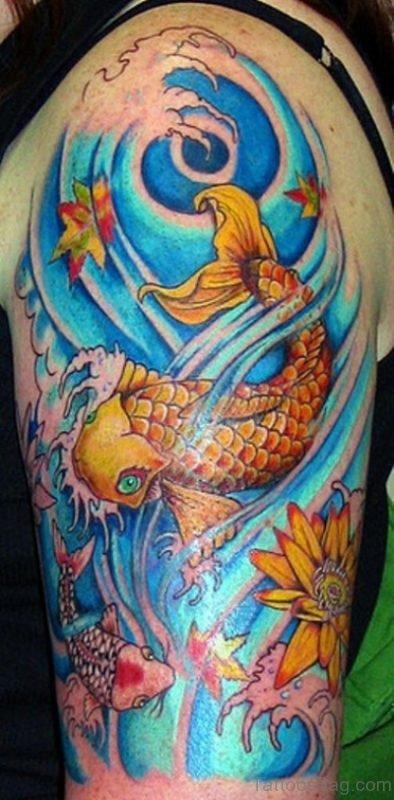 Girly Koi Fish Tattoo